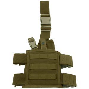 Funda de pistola para pierna Flyye SpecOps Seals con sistema MOLLE en Coyote Brown