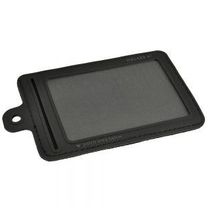 Funda en relieve de tarjeta de identificación con velcro Hazard 4 de tamaño pequeño en negro
