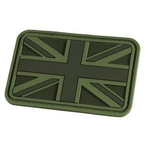 Parche en relieve Hazard 4 con bandera del Reino Unido en OD Green