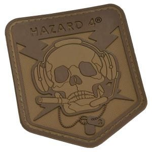 Parche en relieve Hazard 4 Operator Skull con calavera en Coyote