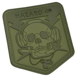 Parche en relieve Hazard 4 Operator Skull con calavera en OD Green