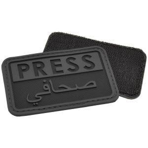 Parche en relieve para periodistas Hazard 4 en árabe en negro