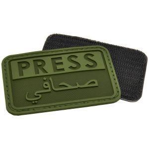 Parche en relieve para periodistas Hazard 4 en árabe en OD Green