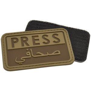 Parche en relieve para periodistas Hazard 4 en árabe en Coyote