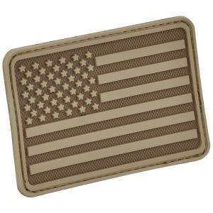Parche Hazard 4 con bandera de Estados Unidos para el brazo izquierdo en Coyote