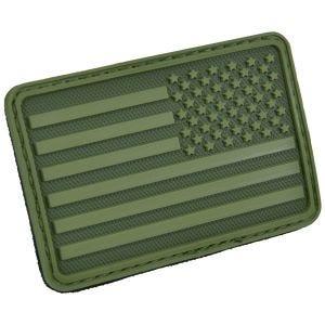 Parche Hazard 4 con bandera de Estados Unidos para el brazo derecho en Olive Green