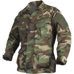 Camisa Helikon SFU NEXT de Ripstop de polialgodón en US Woodland