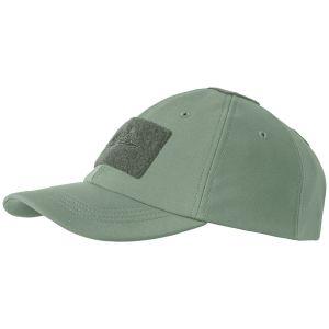 Gorra de béisbol Helikon Tactical para invierno de tejido Shark Skin en Foliage Green