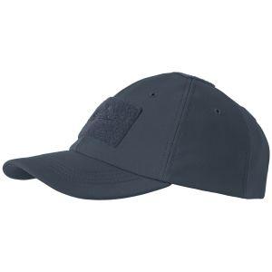 Gorra de béisbol Helikon Tactical para invierno de tejido Shark Skin en Navy Blue