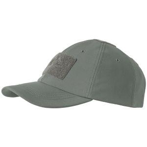 Gorra de béisbol Helikon Tactical para invierno de tejido Shark Skin en Shadow Grey