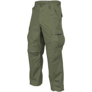 Pantalones Helikon BDU de Ripstop de algodón en Olive Green