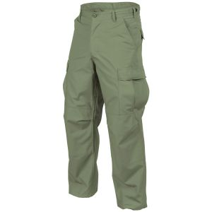 Pantalones Helikon Genuine BDU de sarga de polialgodón en Olive Green
