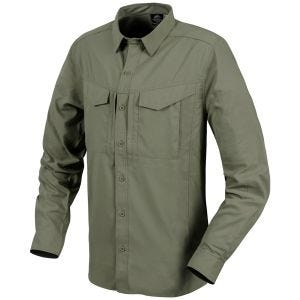 Camisa de manga larga Helikon Defender Mk2 Tropical en verde oliva oscuro