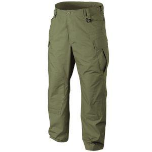 Pantalones Helikon SFU NEXT de Ripstop de polialgodón en Olive Green