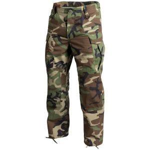 Pantalones Helikon SFU NEXT de Ripstop de polialgodón en Woodland estadounidense