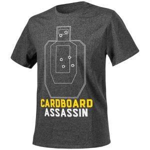 Camiseta Helikon Cardboard Assassin jaspeada en negro-gris