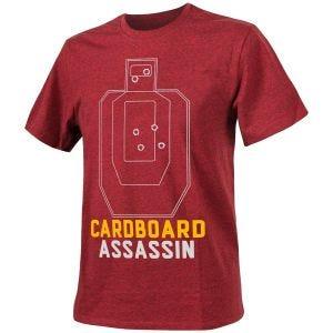 Camiseta Helikon Cardboard Assassin jaspeada en rojo