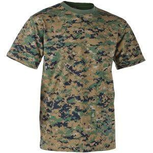 Camiseta Helikon USMC en Digital Woodland