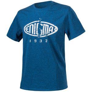 Camiseta Helikon Enigma jaspeada en azul
