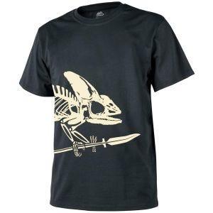 Camiseta con esqueleto completo Helikon en negro
