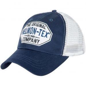 Gorra Helikon Trucker Logo twill en azul