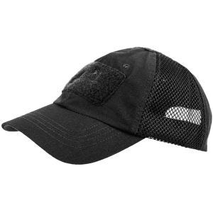 Gorra de béisbol Helikon Tactical con malla en negro