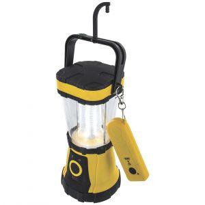 Linterna Highlander con 24 luces LED y mando a distancia en amarillo/negro