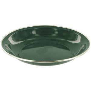 Plato hondo Highlander Deluxe esmaltado en verde
