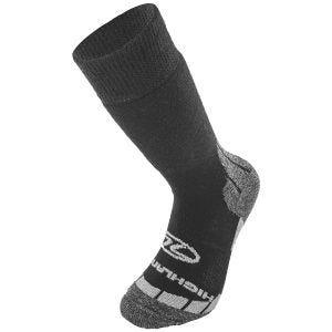 Calcetines Highlander Base de lana en negro / gris
