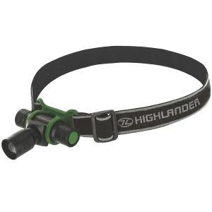 Linterna frontal Highlander Focus con luz LED de 3 W en negro / verde oliva