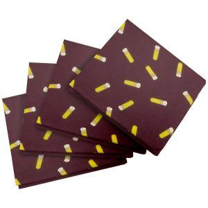Pack de 4 pañuelos de bolsillo Jack Pyke con diseño de cartuchos en Wine