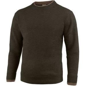 Suéter de cuello redondo Jack Pyke Ashcombe en verde oliva oscuro
