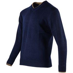 Suéter con cuello de pico Jack Pyke Ashcombe en Navy