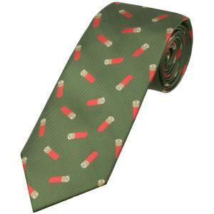 Corbata Jack Pyke con diseño de cartuchos en verde