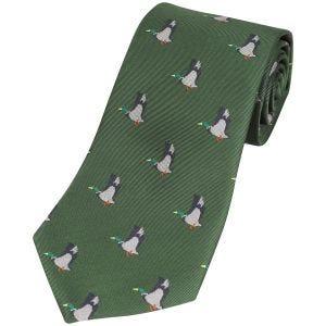 Corbata Jack Pyke con diseño de patos en verde