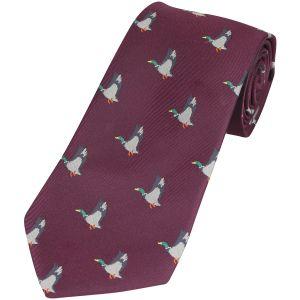 Corbata Jack Pyke con diseño de patos en Wine