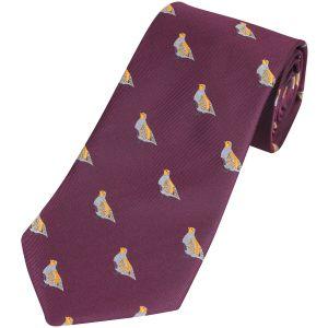 Corbata Jack Pyke con diseño de perdices en Wine