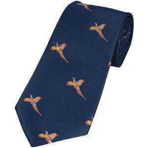 Corbata Jack Pyke con diseño de faisanes en Navy