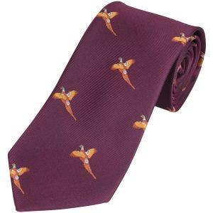 Corbata Jack Pyke con diseño de faisanes en Wine