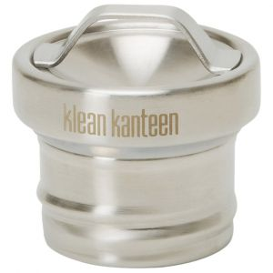 Tapón con agujero Klean Kanteen de acero en Brushed Stainless