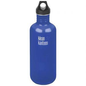 Botella Klean Kanteen Classic con tapón con agujero de 1182 ml en Coastal Waters