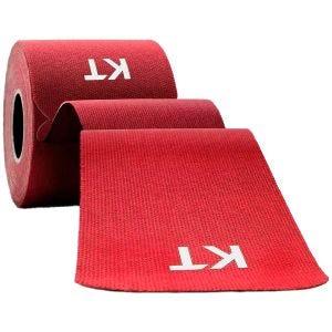 Cinta adhesiva de algodón KT Tape tiras individuales de 25,4 cm en rojo
