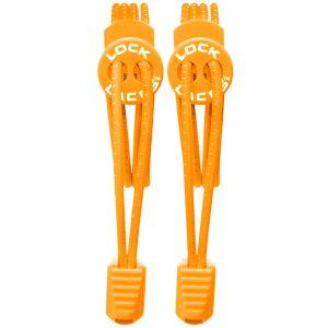 Cordones elásticos Lock Laces que no se atan en naranja
