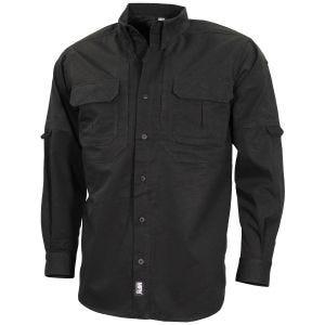 Camisa táctica de manga larga MFH Strike en negro