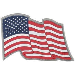 Parche con bandera de EE.UU. al viento Maxpedition a color