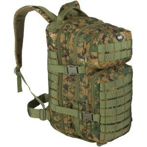 Mochila MFH Assault I en Digital Woodland
