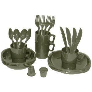Set de 26 piezas de menaje para acampada MFH de plástico