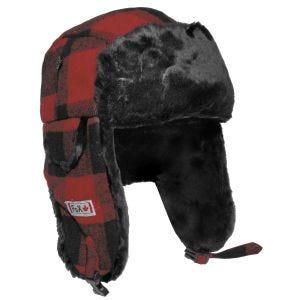 Gorro de pelo Fox Outdoor Lumberjack en rojo / negro