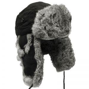 Gorro de invierno MFH con pelo de conejo en gris