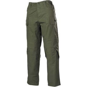 Pantalones MFH Mission Combat de Ripstop en OD Green
